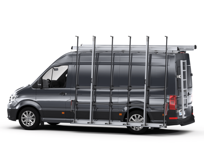 External glass rack, roof rack and ladder